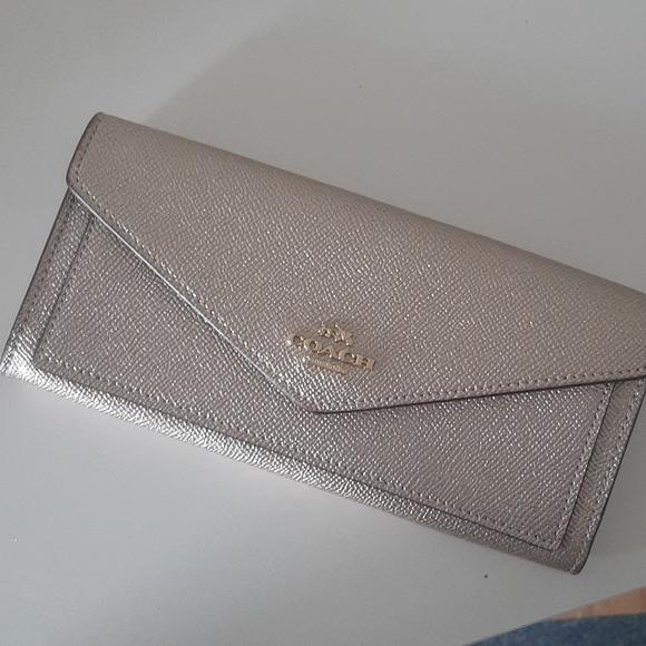 Coach Metalic Gold Wallet
